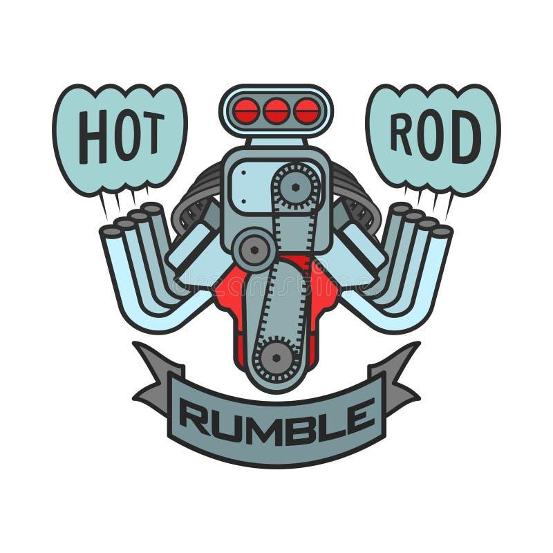engine hot rod muscle car speedster logo t shirt poster banner rh dreamstime com hot rod logo vector hot rod logo ideas
