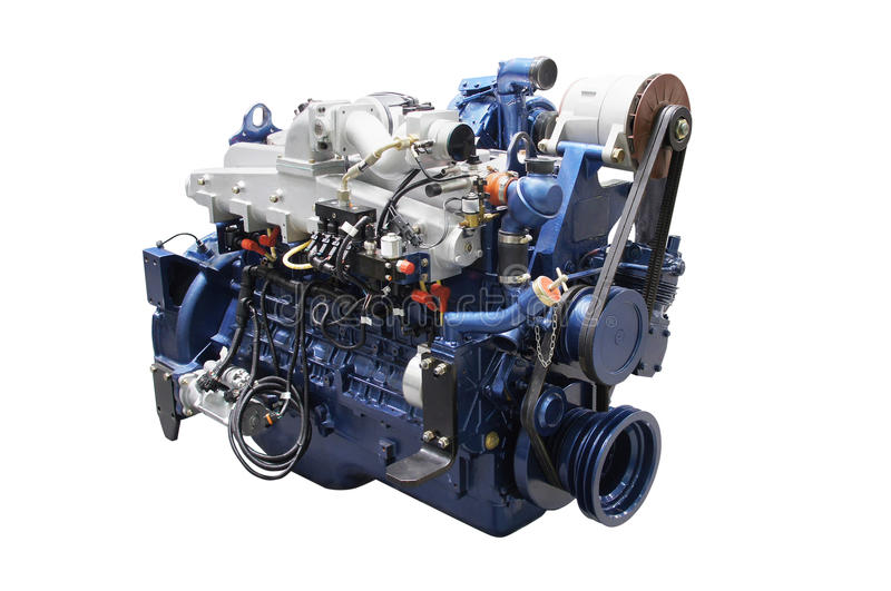 Engine. The image of an engine isolated under the white background royalty free stock photo