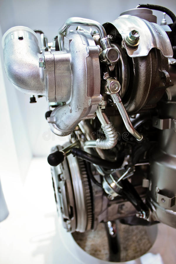 Engine inside view. Engine of modern car with lots of details royalty free stock image