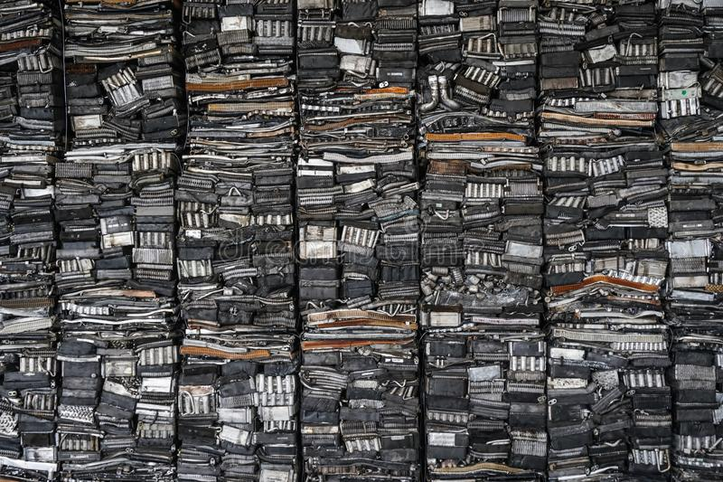 Engine junkyard, cracked engine block, aluminum for recycling. Scrap yard for recycle the engine and automotive parts. Engine junkyard. That old, cracked engine royalty free stock images