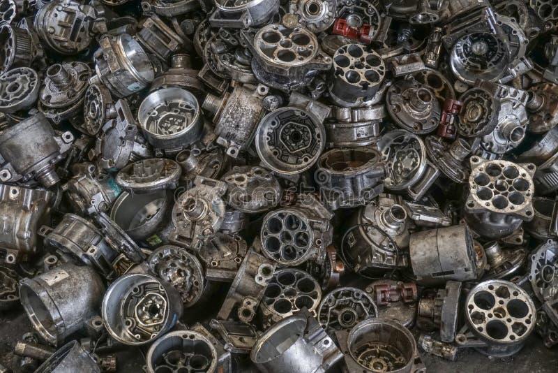Engine junkyard, cracked engine block. Engine junkyard, cracked engine block, aluminum for recycle royalty free stock photography