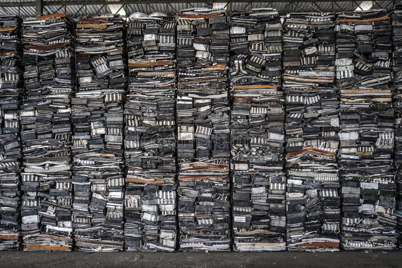 Engine junkyard, cracked engine block. Engine junkyard, cracked engine block, aluminum for recycle royalty free stock image