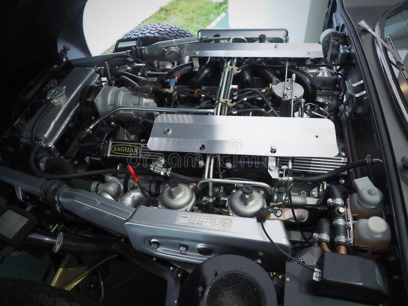 ENGINE-MOTOR - Jaguar, Goodwood-Festival der Geschwindigkeit und der Wiederbelebung lizenzfreie stockbilder