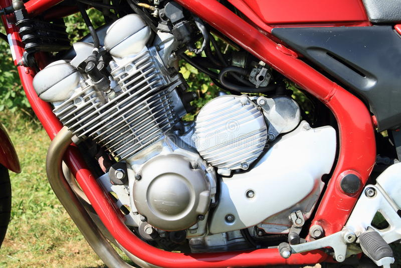 Engine of motorbike royalty free stock photography