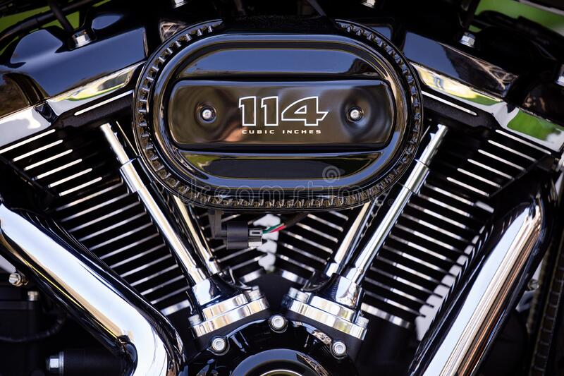 Engine of motorcycle royalty free stock photos