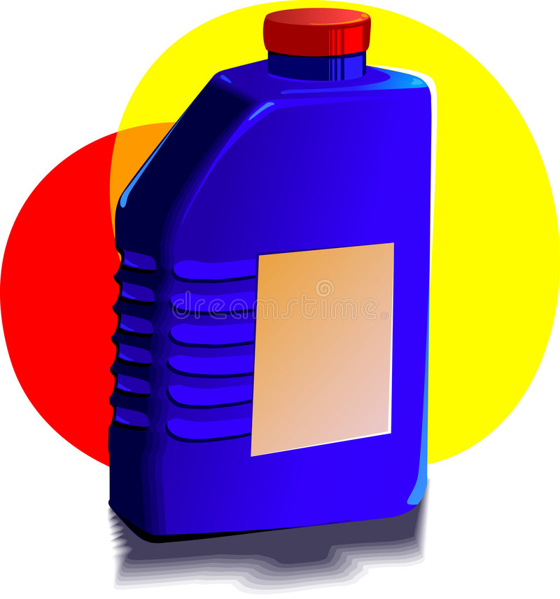 Engine oil bottle royalty free illustration