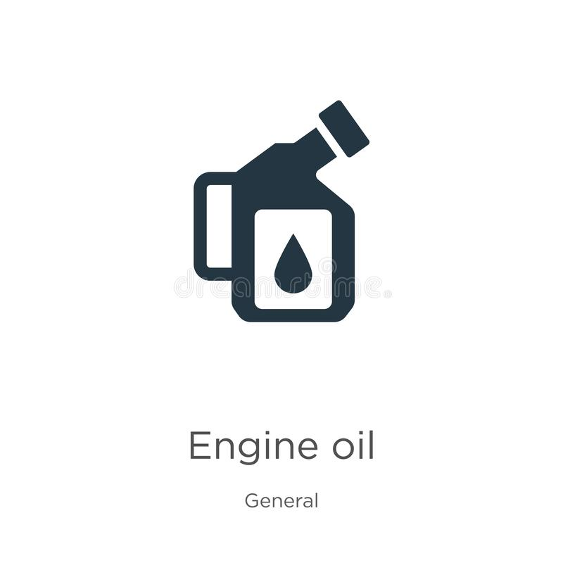 Engine oil icon vector. Trendy flat engine oil icon from general collection isolated on white background. Vector illustration can vector illustration