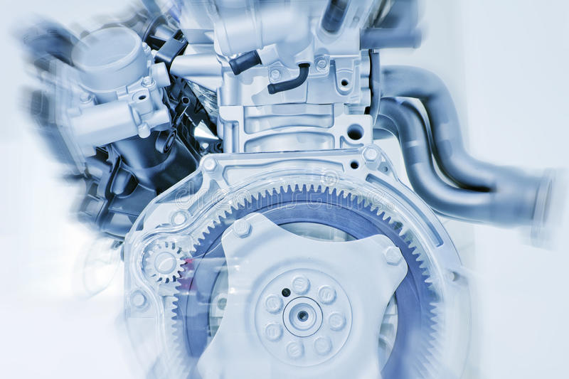 Engine. Part of a car engine made in china stock photos