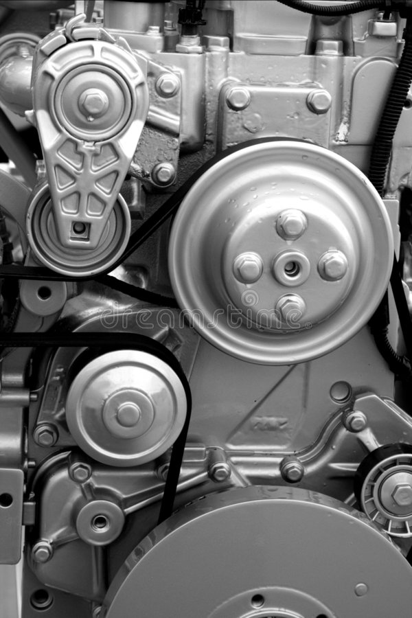 Engine parts and components royalty free stock image