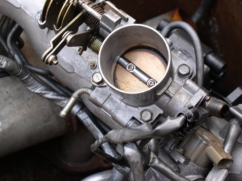 Engine Parts throttle royalty free stock image