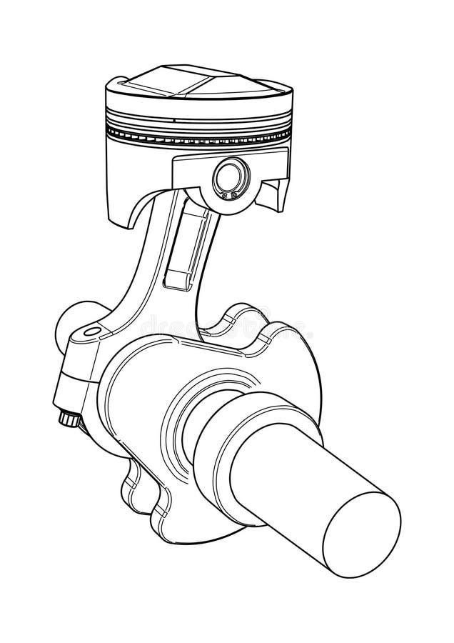 Engine Piston Stock Vector Illustration Of Design Motor