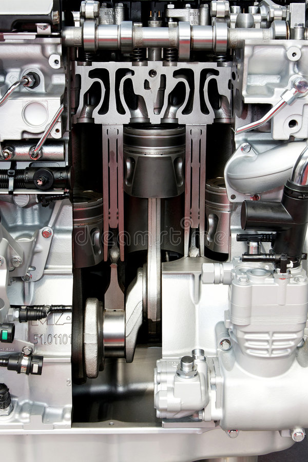 Engine pistons stock photo