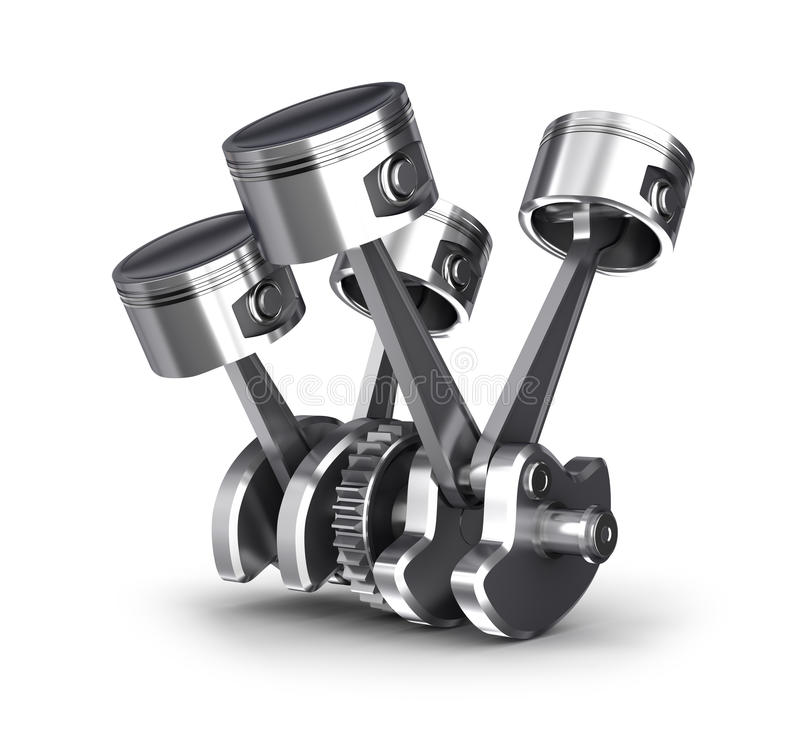 Download Engine pistons and cog stock illustration. Image of metallic - 31914250