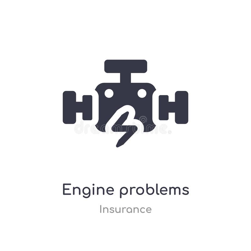 engine problems icon. isolated engine problems icon vector illustration from insurance collection. editable sing symbol can be use vector illustration