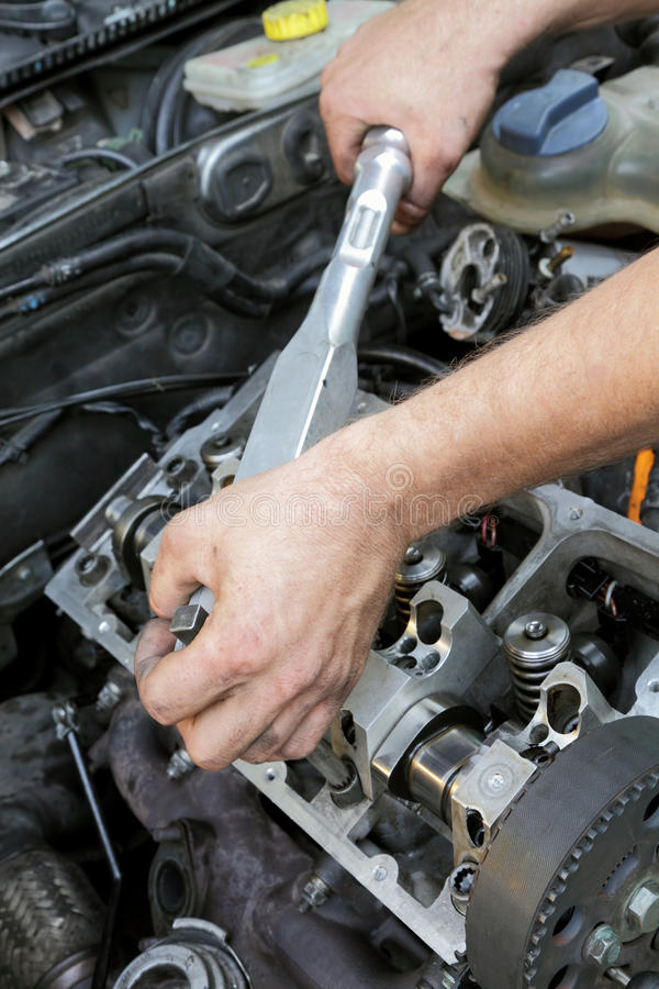 Engine repairing royalty free stock images