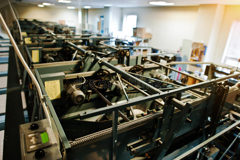 Engine room of bowling machine.  royalty free stock photo