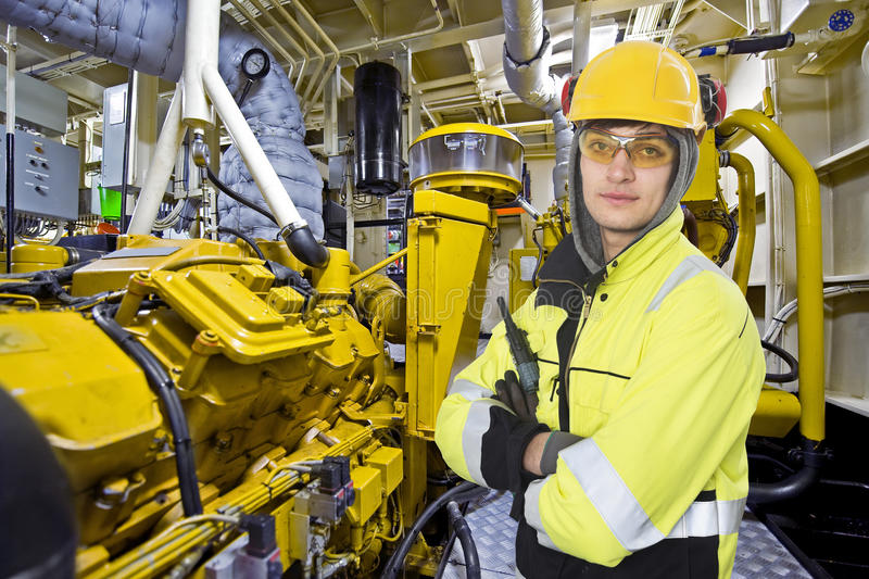 Engine room engineer royalty free stock images