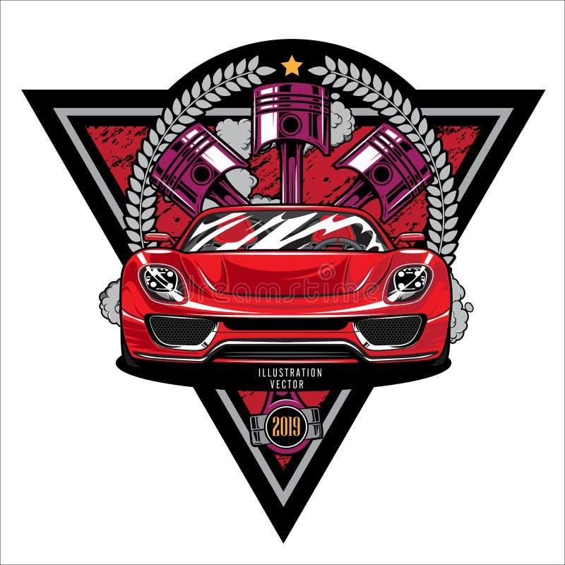 Engine shoulder, Car piston, Racing car graphic logo design illustration template. Engine shoulder, Car piston, Racing car graphic logo design illustration stock illustration