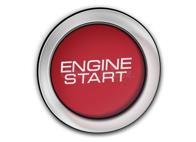 Engine start button close-up image royalty free illustration