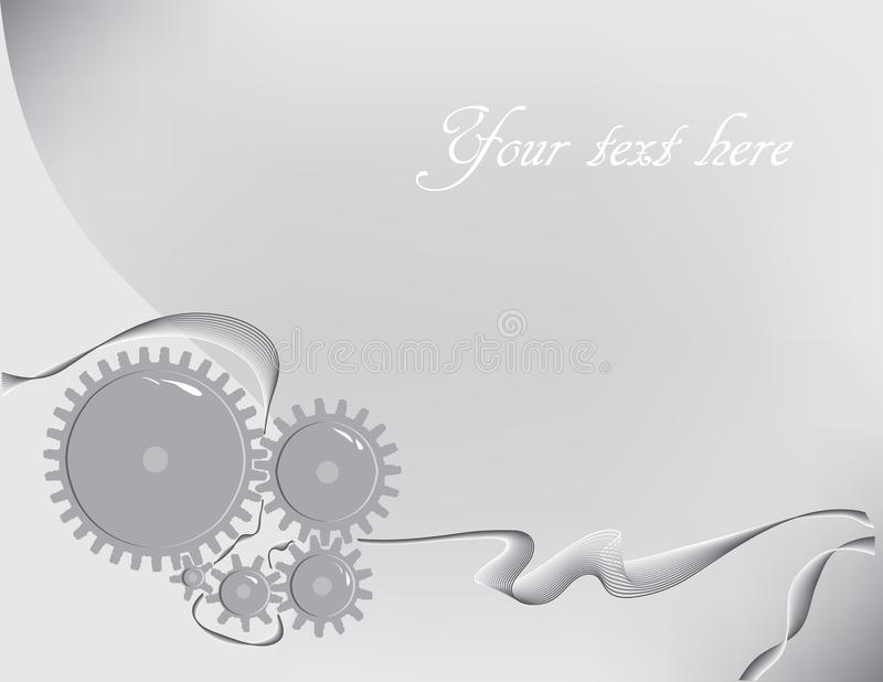Engineer. Creative background with gears on the subject of mechanics. Vector illustration stock illustration