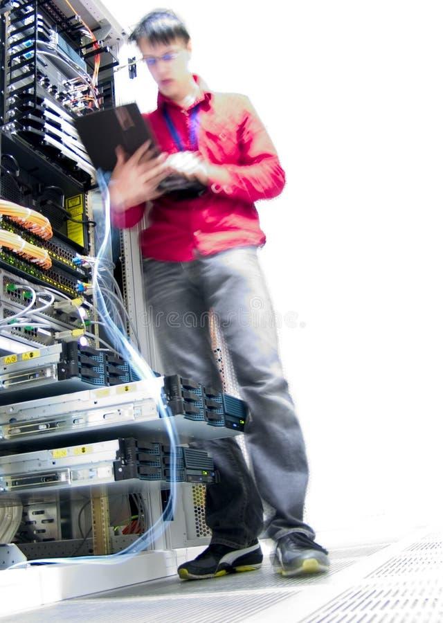 IT Engineer. Engineer Configuring IT Equipment