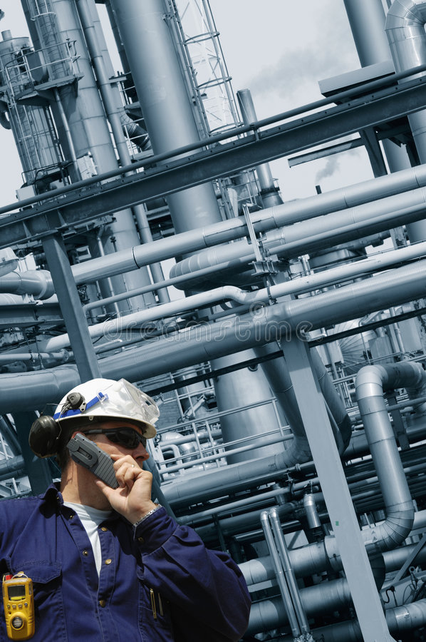 Free Engineer And Oil And Gas Industry Royalty Free Stock Photos - 5176858