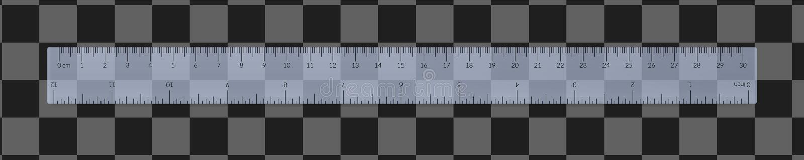 Engineer or architect plastic drafting ruler stock photos