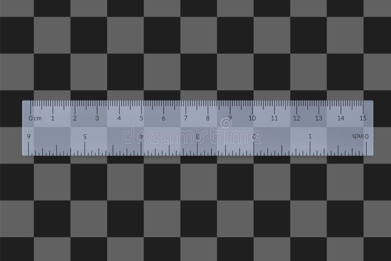 Engineer or architect plastic drafting ruler stock photo
