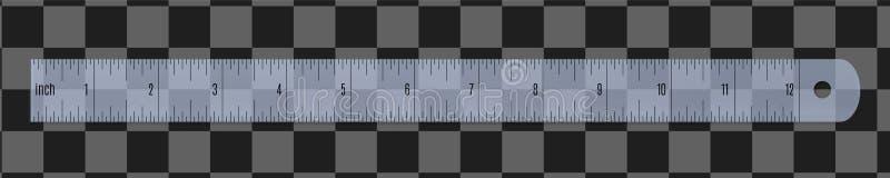 Engineer or architect plastic drafting ruler stock image