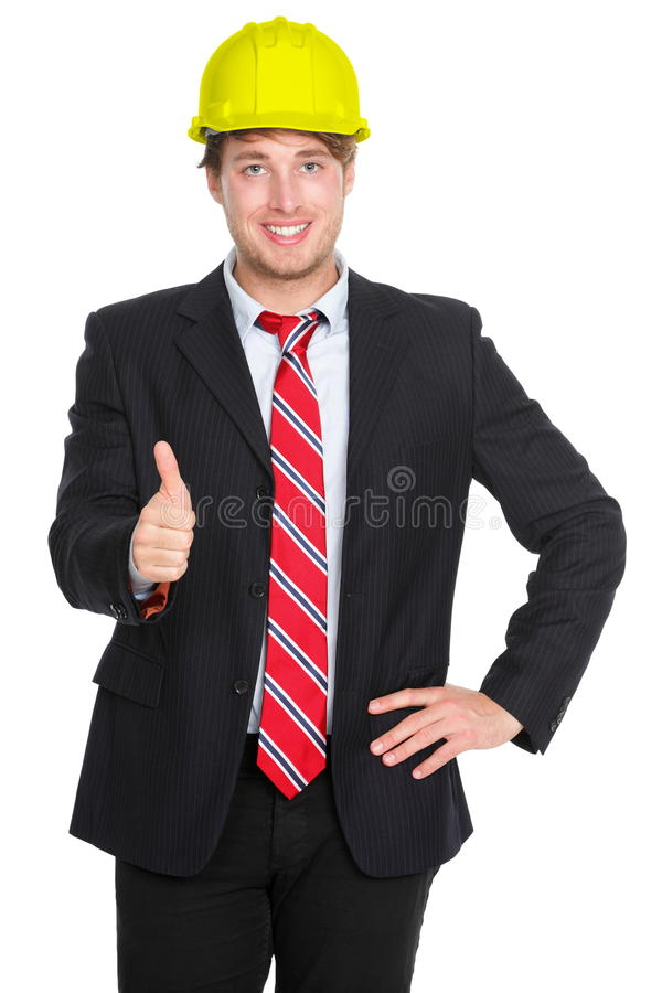Engineer or architect thumbs up stock photography