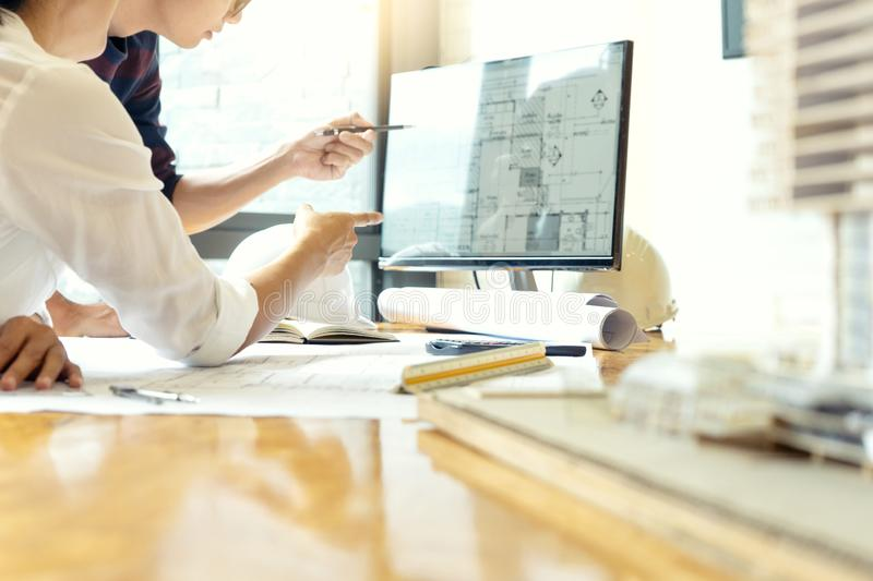 engineer or architectural project stock image