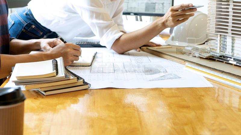 engineer or architectural project royalty free stock photography