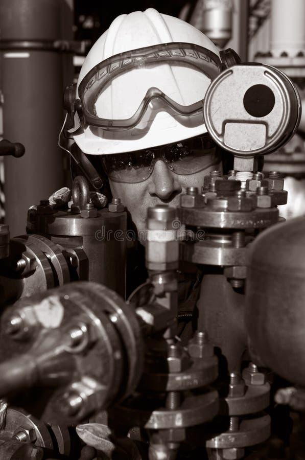 engineer bränslegasolja arkivbilder