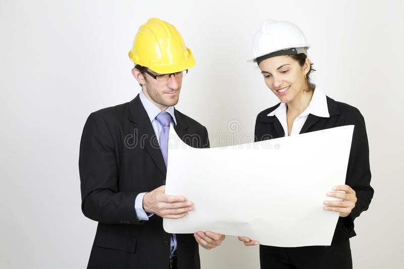 Engineer And Client On Site Stock Photo