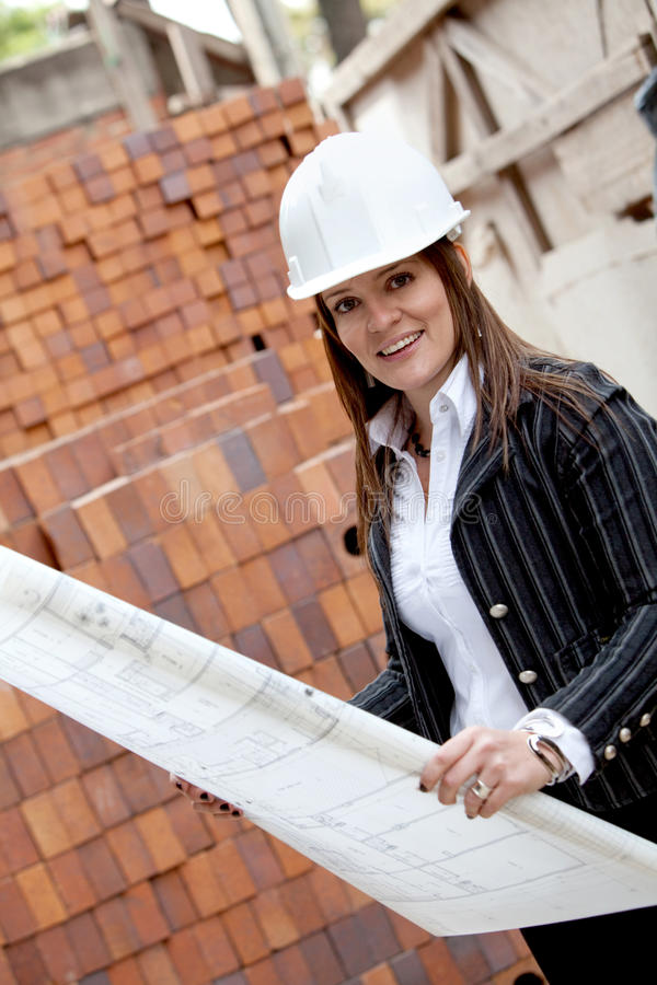 Download Engineer At A Construction Site Stock Image - Image: 15725871