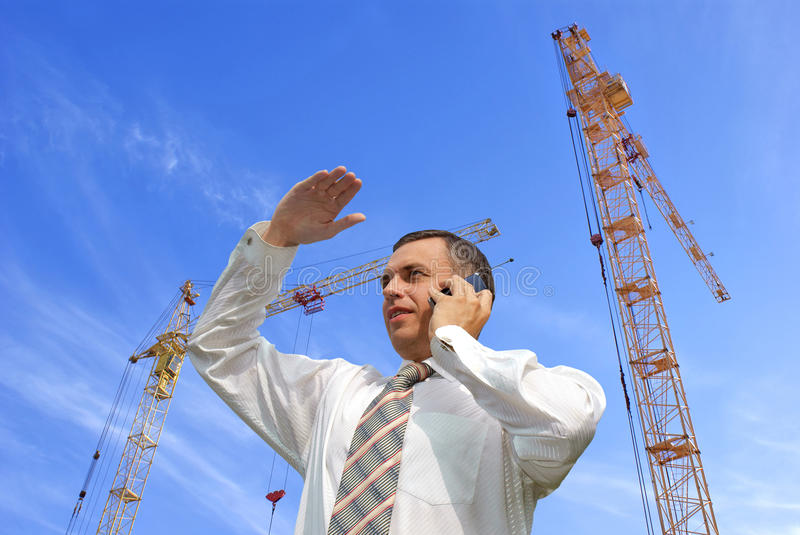 Engineer-designer. Projection-initial preparatory stage in construction new building stock photography