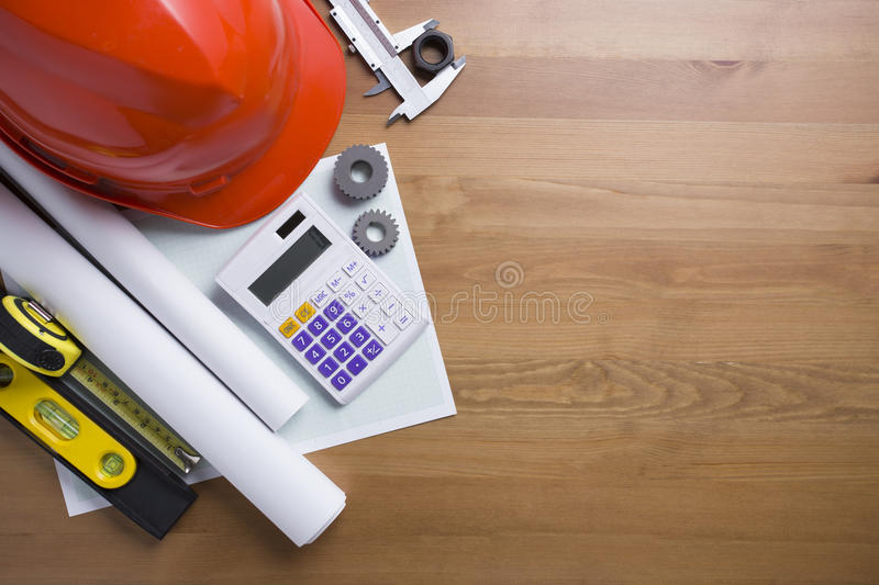 Engineer desk background stock photos