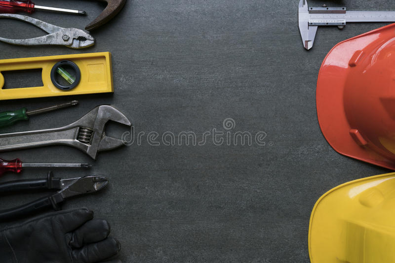 Engineer desk background royalty free stock images