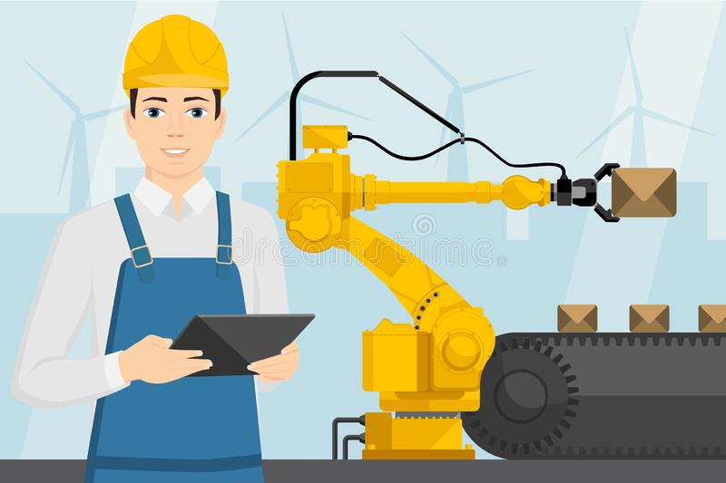 Industrial internet of things stock illustration