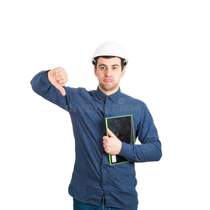 Engineer dislike gesture royalty free stock image