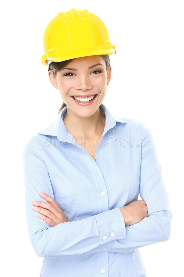 Engineer, entrepreneur or architect business woman stock photo