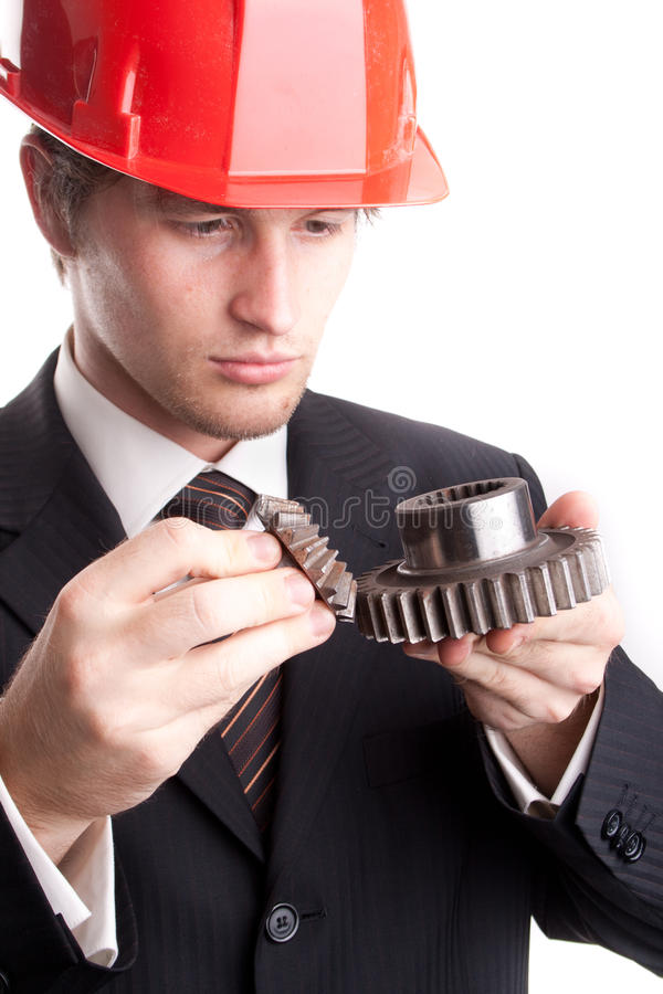 Free Engineer Examine Gears Royalty Free Stock Images - 17384839