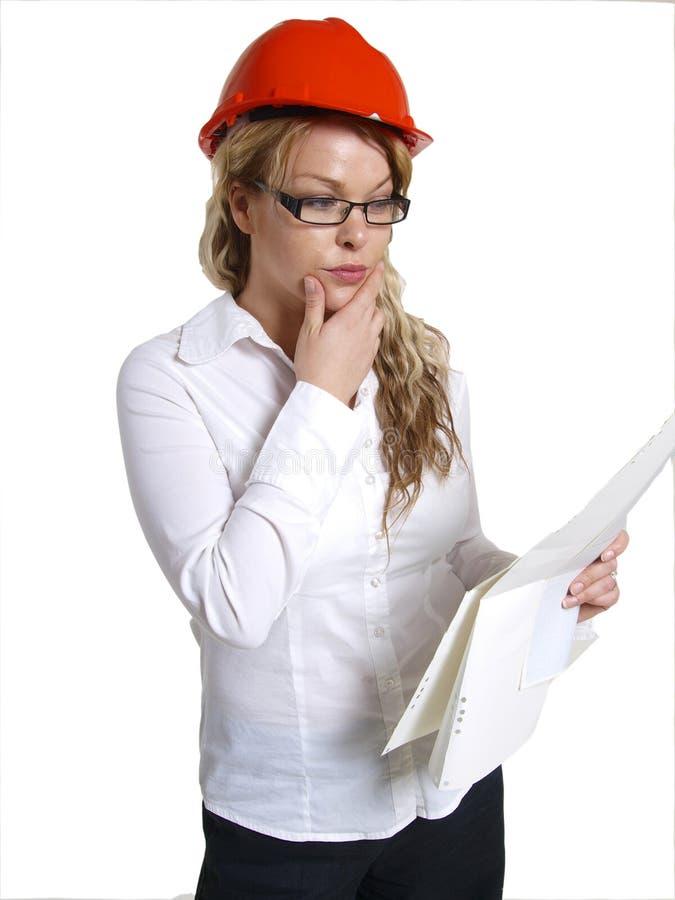 engineer kvinnan arkivfoton
