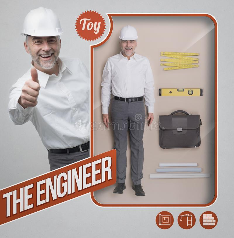 The engineer lifelike doll royalty free stock images