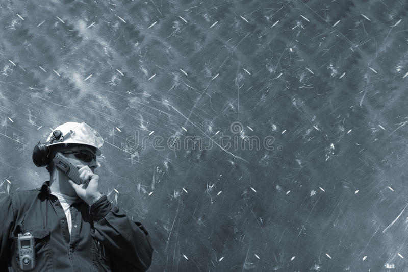 Engineer and metal concept royalty free stock photo