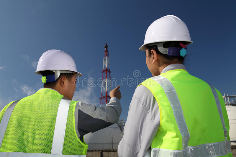 Download Engineer oil refinery stock image. Image of construction - 23979309