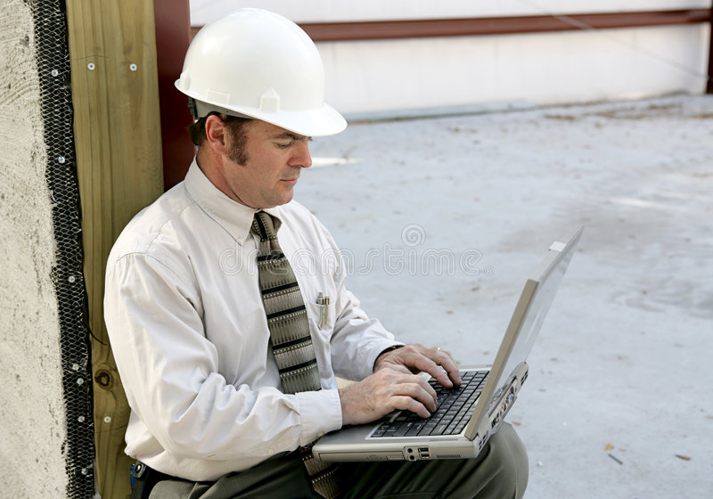 Engineer Online royalty free stock photography