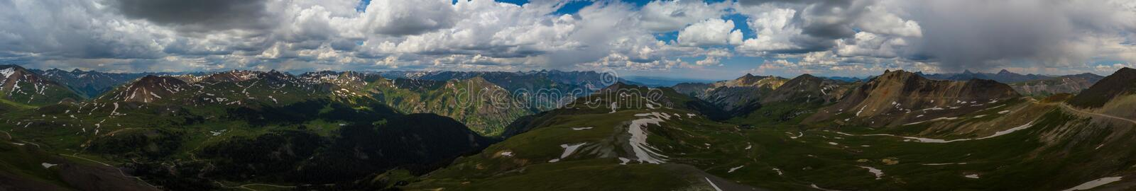 Engineer Pass Colorado view from the top, panoramic shot royalty free stock photos