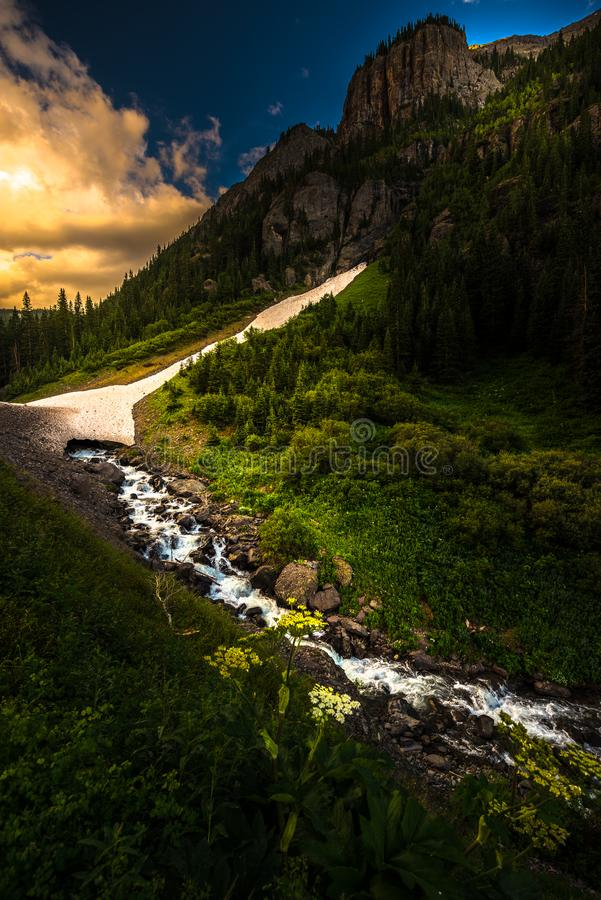 Engineer Pass part of Alpine Loop Colorado Uncompahgre River wit royalty free stock image