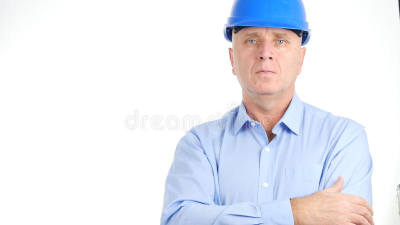 Engineer Portrait Looking Confident in a Business Presentation stock photos